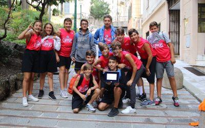 I Clipper della scuola Pastonchi di Arma a Genova per gli Oscar del Basket Ligure.